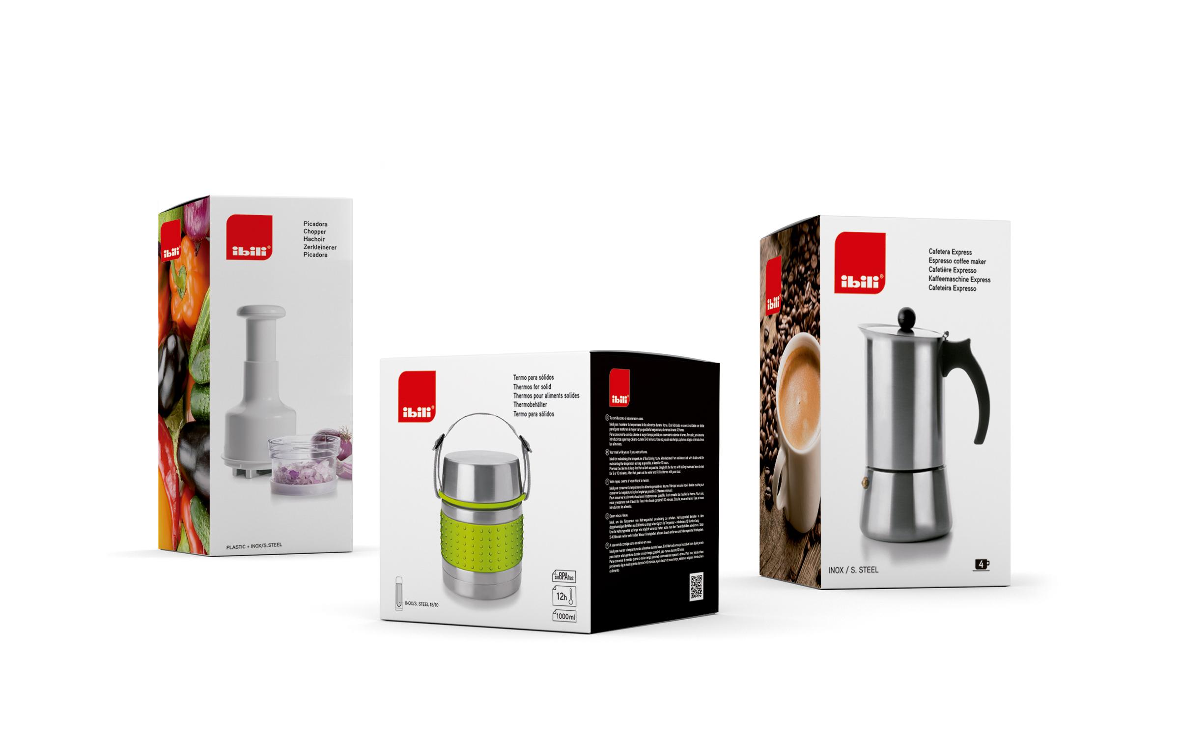 Ibili Menaje – Produktu ezberdinentzako packaginga