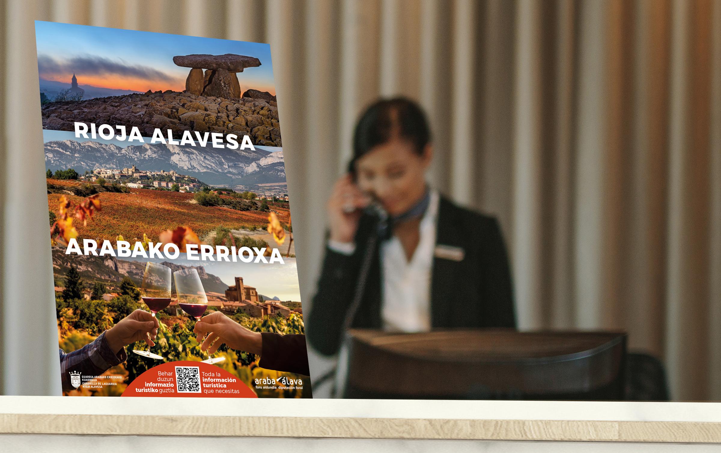 Guardia - Arabako Errioxako Kuadrilla – Turismoaren sustapenerako kanpaina – Turisten harrera