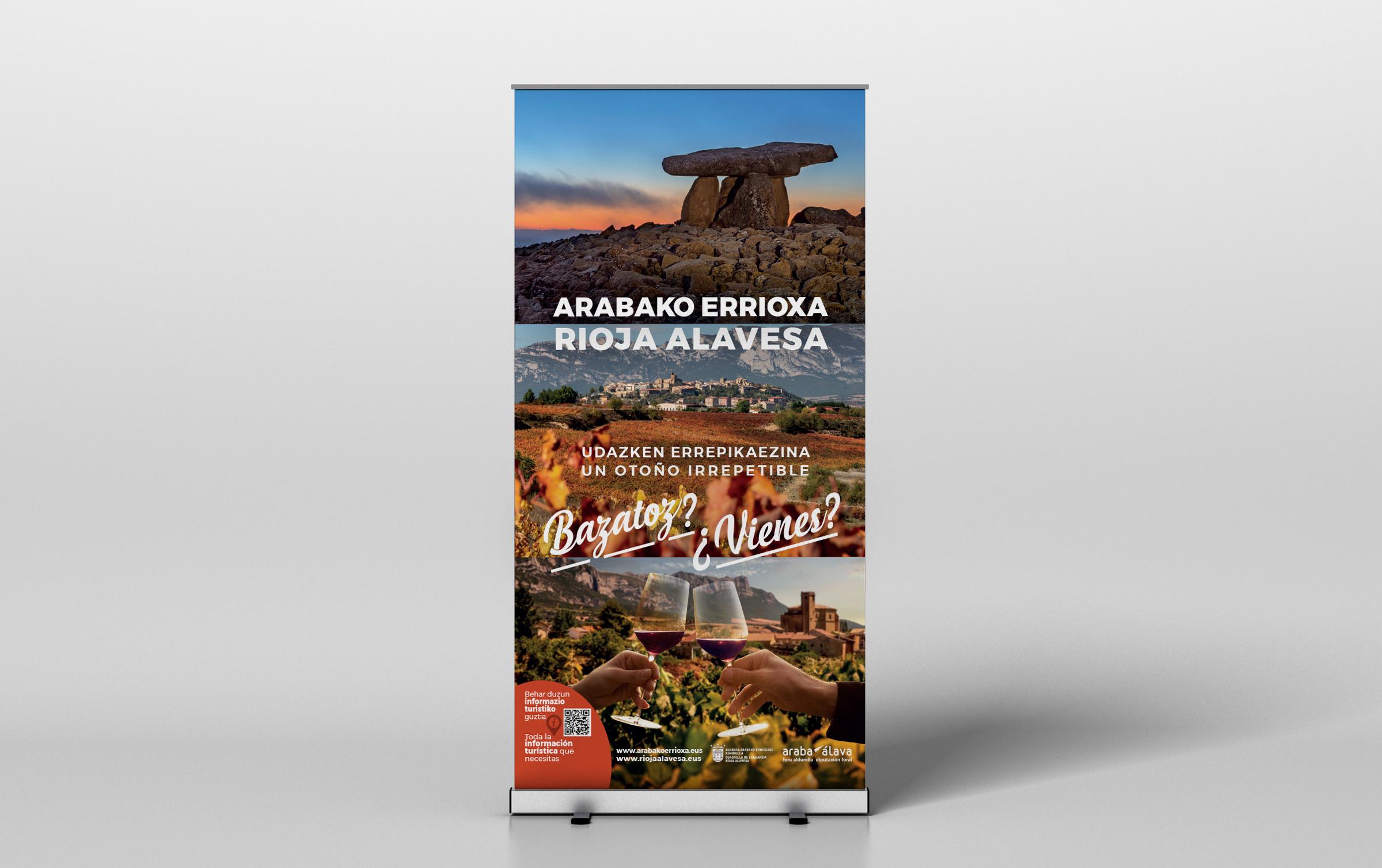 Cuadrilla de Rioja Alavesa – Campaña de promoción turística – Roll-up