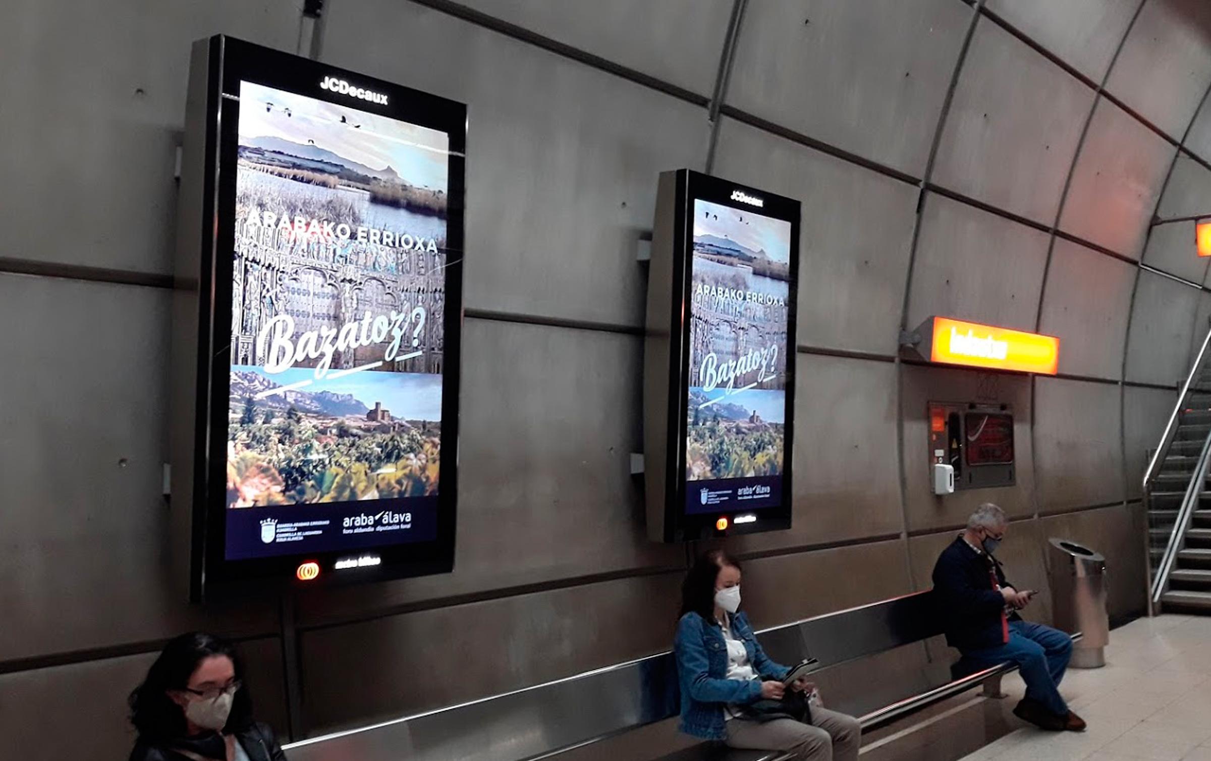 Cuadrilla de Rioja Alavesa – Campaña de promoción turística – Metro Bilbao