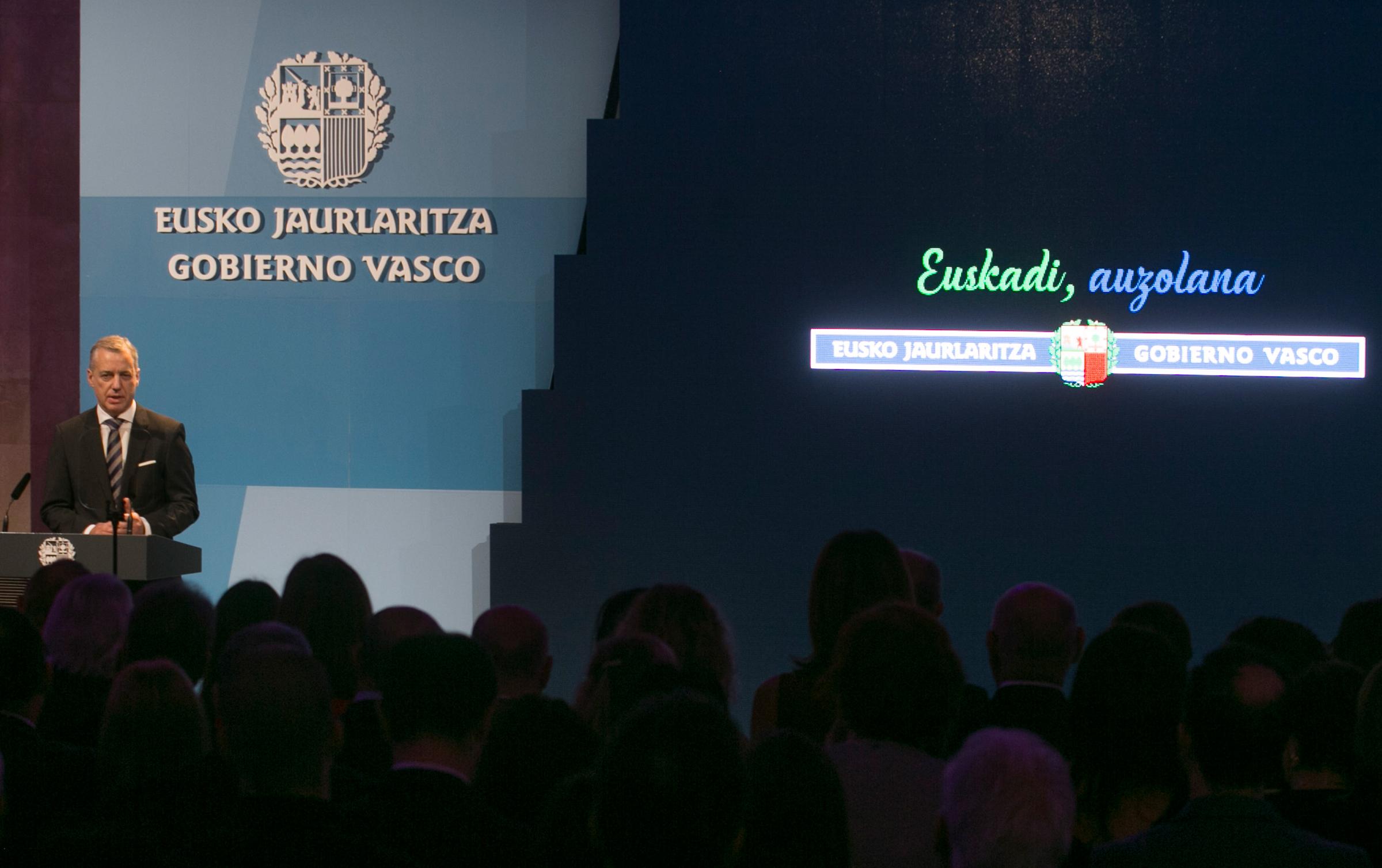 """Presentación del claim """"Euskadi, auzolana"""" en Lehendakaritza"""