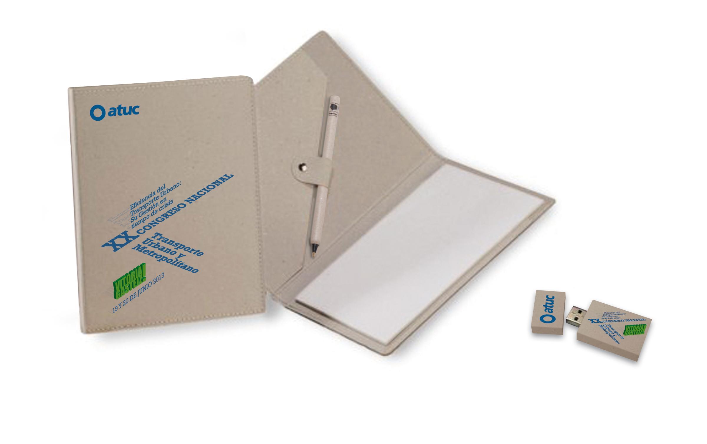 Carpeta y memoria USB para participantes