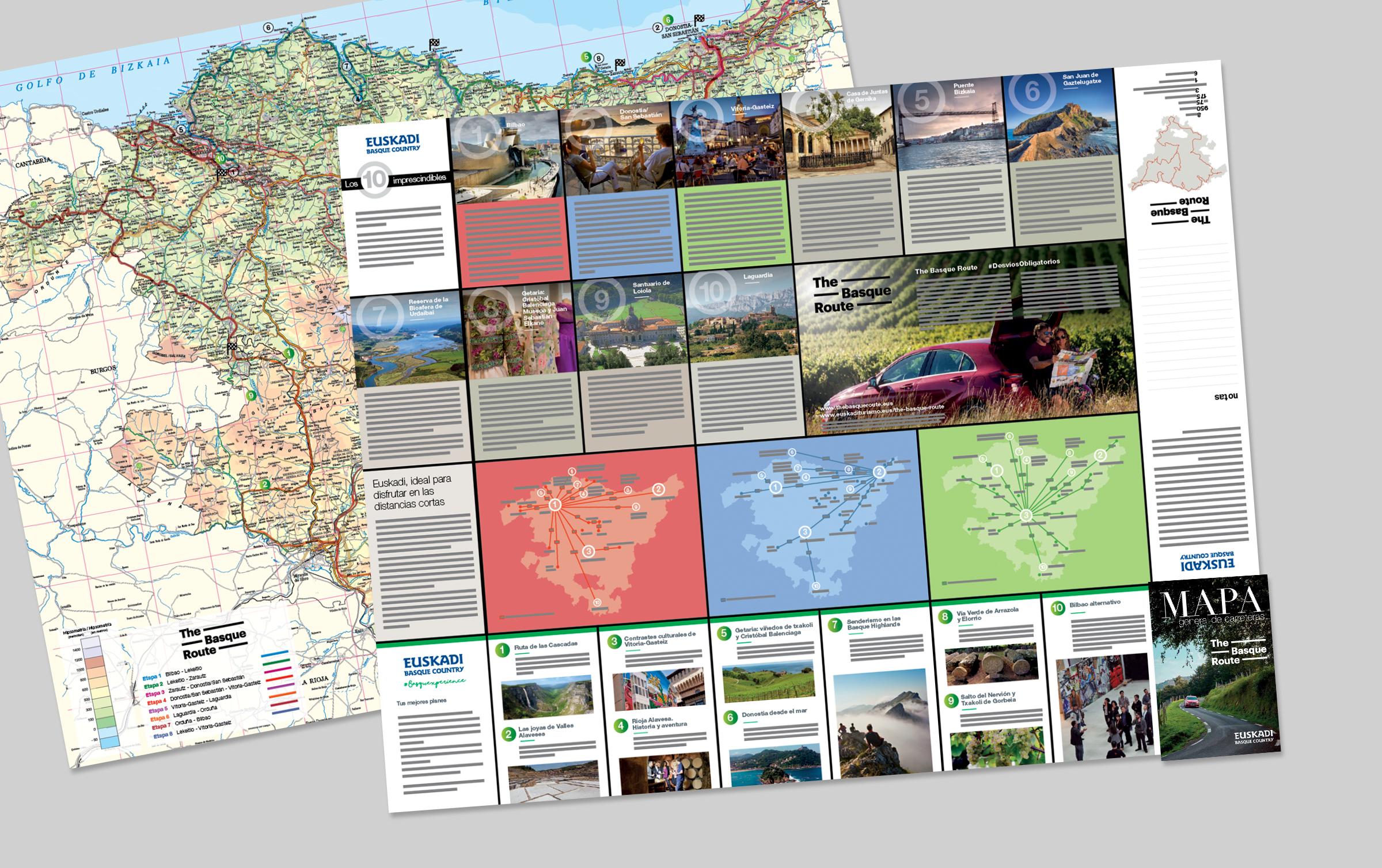 Mapa turístico de carreteras